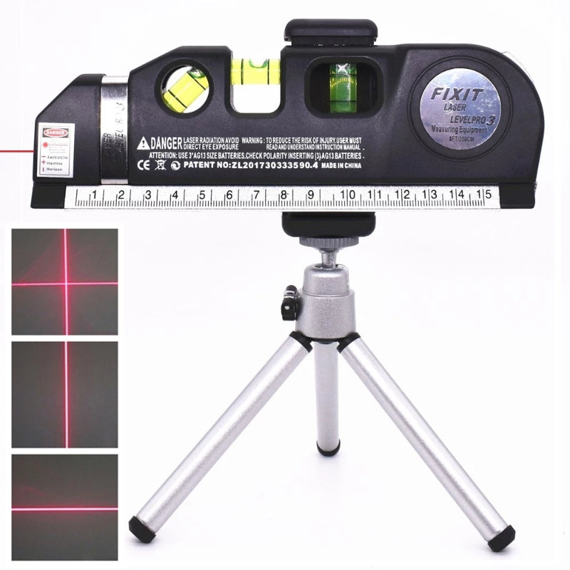 4 in 1 Cross Projects Vertical Horizontal Laser Level Ruler