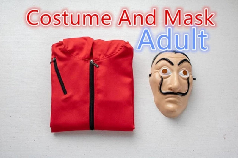 Adult Salvador Dali Costume and Mask