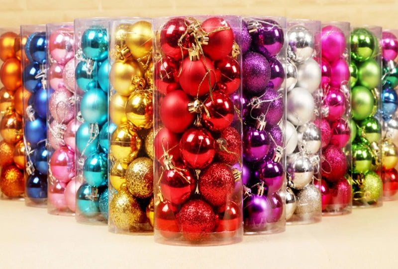 24Pcs Christmas Tree Decor Hanging Ball Ornament