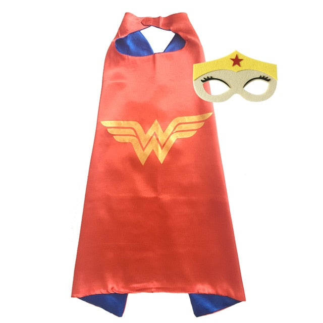 Halloween Superhero Capes with Masks for Kids