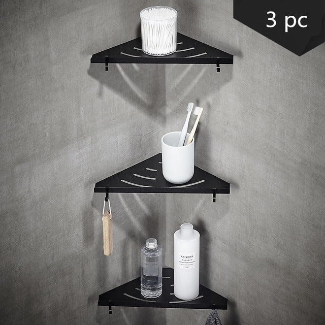 Stainless Steel Nickel Brushed Wall Mount Bathroom Shower Shelves