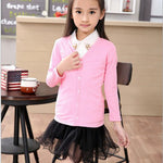 autumn girls T shirt cardigan 2-7Y kid boys top Tees coat clothes children coats baby Knit Long Sleeve girl sweater jacket