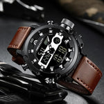 Men's Dual Display Multifunction Waterproof Luminous Sports Watch