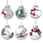 Christmas Clear Plastic Hanging Ball For Tree