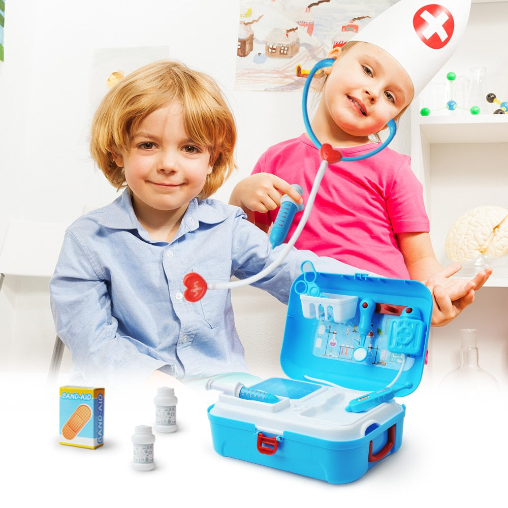 17 Pc Children's Pretend Play Doctor Role Play Toy Set in Backpack