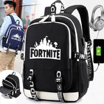 Fortnite Multi Pocket USB School Backpack
