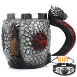 Game of Thrones Stainless Steel Resin 3D Cup Wine Glass Beer Mug