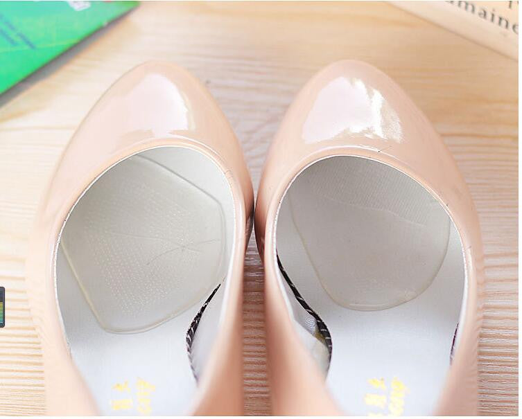 Shoe Accessories Inserts Silicone Gel Elastic Cushion Insoles Protect Comfy Feet Palm Care Shoe Pads