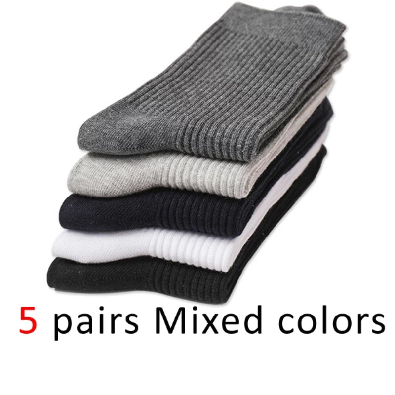 Multi Pack of Men's Cotton Long Business Diabetic Socks