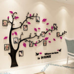 3D Acrylic Family Tree Photo Frame Wall Stickers