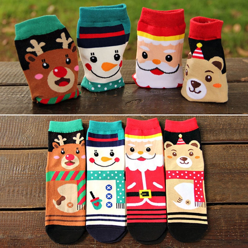 Women's Cartoon Christmas Socks