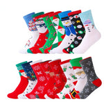 5 Pair Unisex Cotton Christmas Socks
