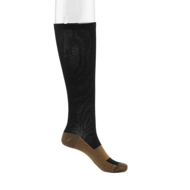 2 Pairs Unisex Miracle Copper Anti-Fatigue Compression Socks