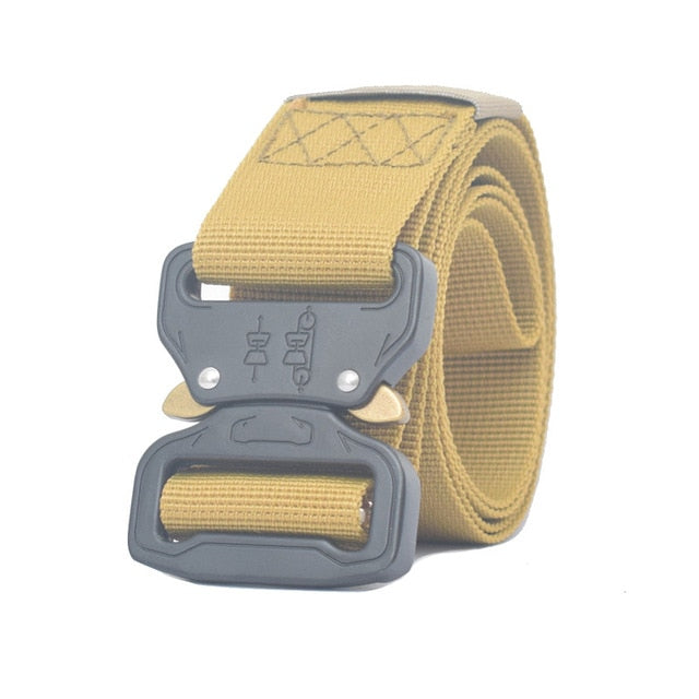 Tactical Metal Buckle Military Style Belt