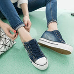 Women's Platform Casual Canvas Lace Up Sneakers