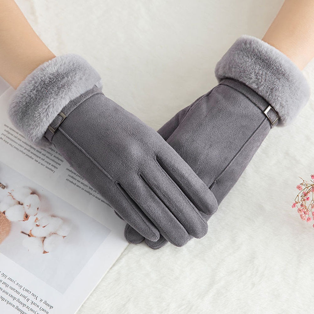 Women's Plush Elegant Winter Gloves