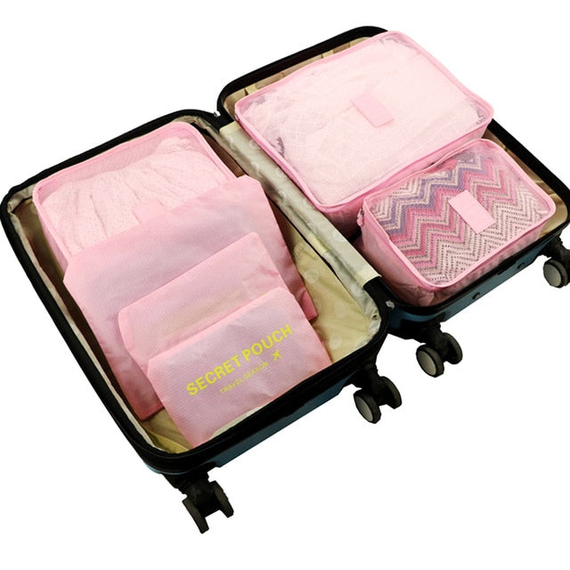 6Pcs Travel Set - Clothes - Shoes - Quilt - Blanket Storage