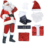 7pcs Santa Claus Suit Set Costume
