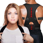 Unisex Magnetic Posture Corrector Therapy Back Shoulder Brace
