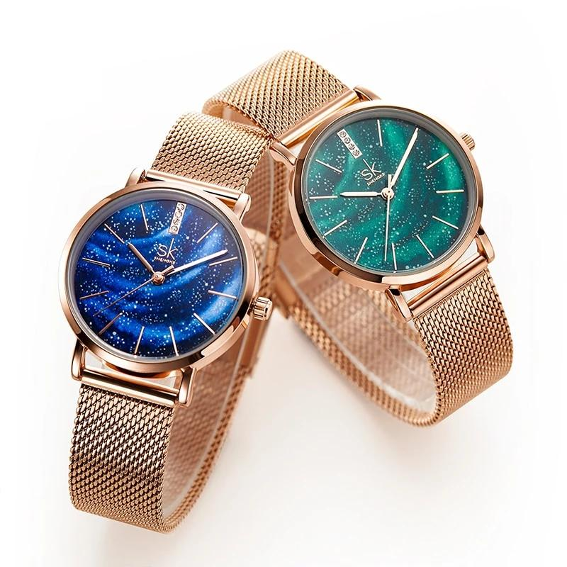 Women's Starry Stainless Steel Strap Quartz Watch