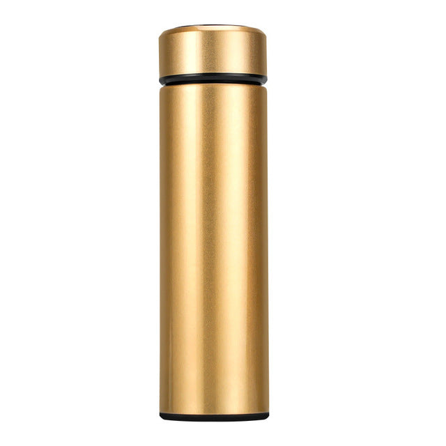 Stainless Steel Intelligent Temperature Display Insulated Thermos Strainer Cup