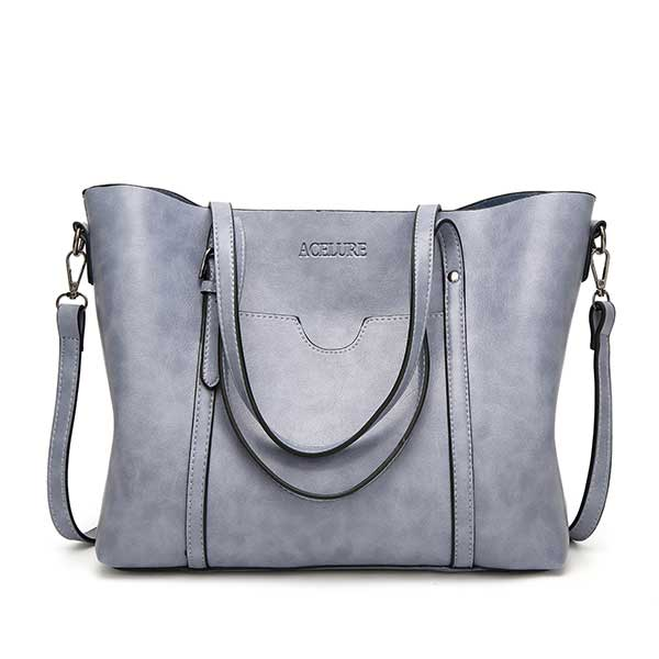 Women's Luxury Leather Handbag Messenger Tote
