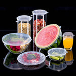 6 Piece: Reusable Stretch Seal Container Lids
