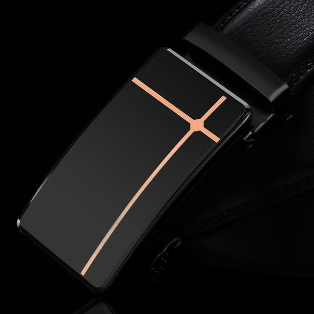 Men's Business Leather Automatic Buckle Belt