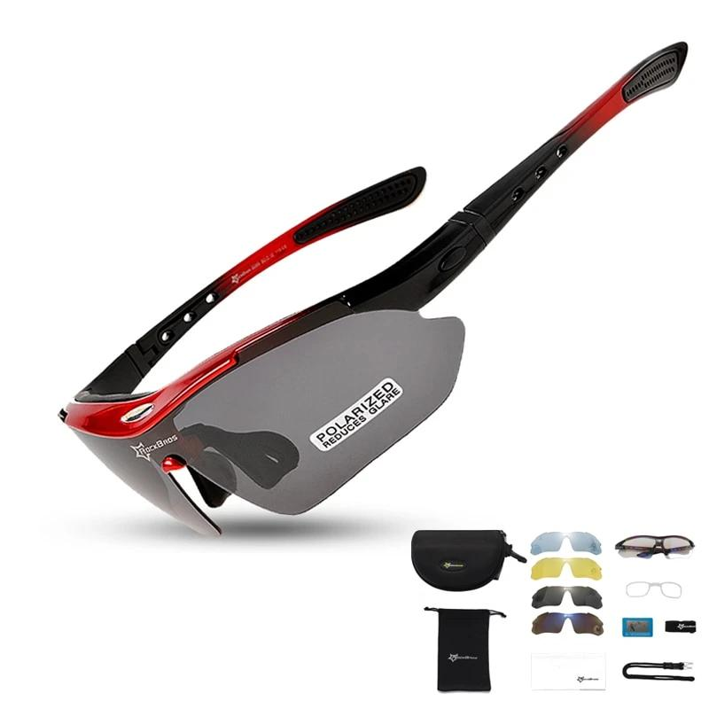 Outdoor Polarized Cycling Eyewear Sunglasses with FIVE Interchangeable Lenses
