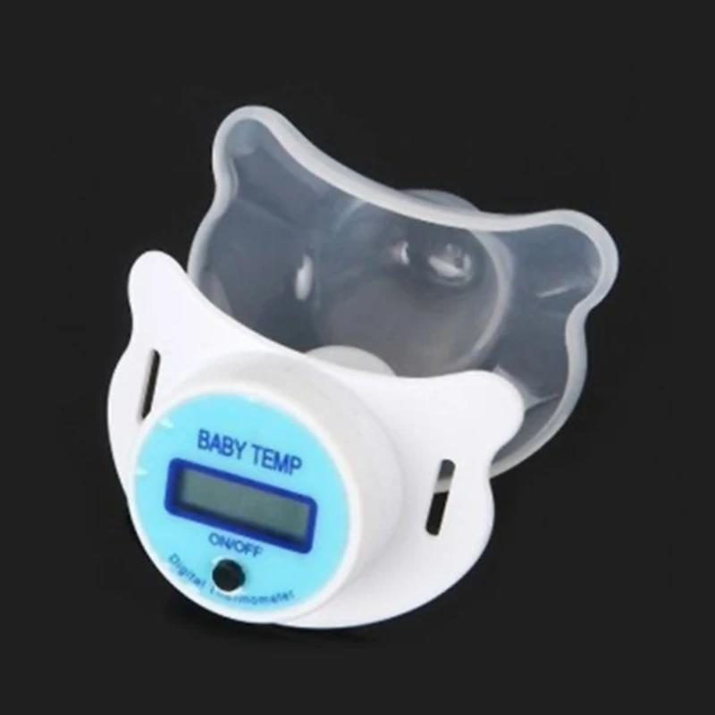 LCD Digital Pacifier Soft Infant Baby Thermometer