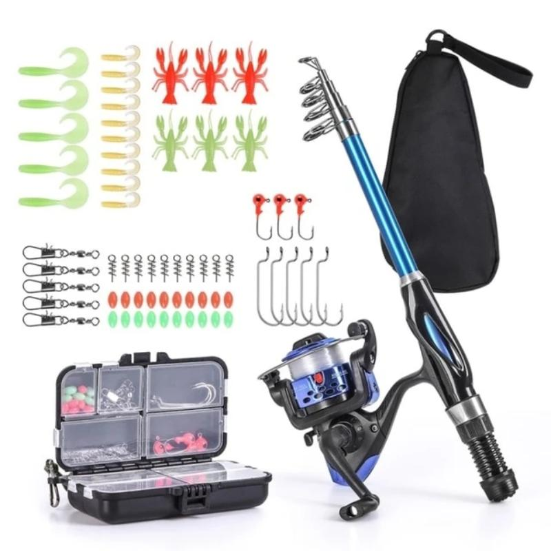 Telescopic Rod And Reel Fishing Set Tackle Assortment