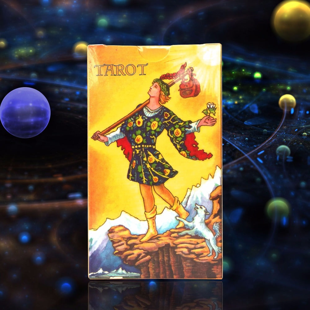 Full English radiant rider wait tarot cards factory made high quality tarot card with colorful box, cards game, board game