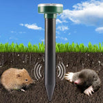 Solar Powered LED Ultrasonic Sonic Mouse Mole Pest Rodent Repeller
