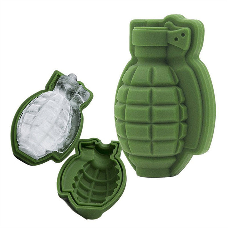 Silicone Creative 3D Grenade Shaped Ice Cube Tray Mold