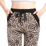 Girls Leopard Pant Jogger Women  Ankle-Length Pant With pocket Drawstring American Original order 8520