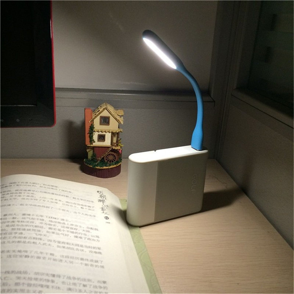 Mini Flexible USB Power Bank LED Handheld Table Light