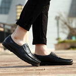 Men's Genuine Leather Slip-On Shoes