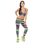 New Women Stretchy   Pencil Pants 3D Pattern Print High Waist Slim Lounge Activewear Nine Points Legging Pants Femininos