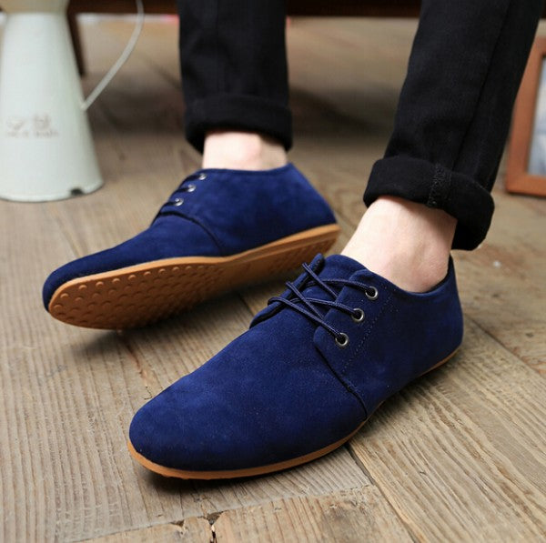 Spring Autumn Fashion Men Shoes Mens Flats Casual Suede Shoes Comfortable Breathable Flats Driving Loafers Plus Size