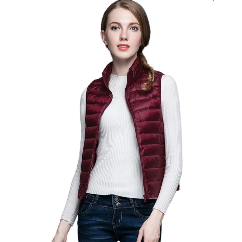 Women's Ultra Light Duck Down Vest
