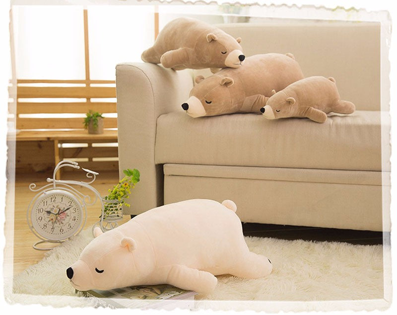 Cute Plush Polar Bear Stuffed Animal Pillow