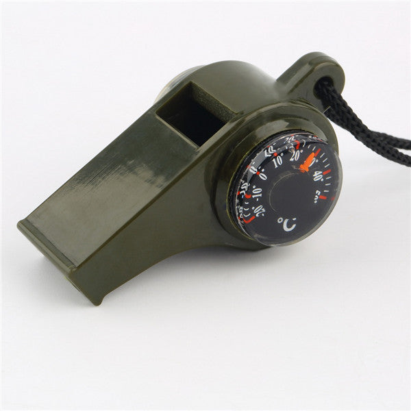 3-in-1 Survival Whistle & Compass