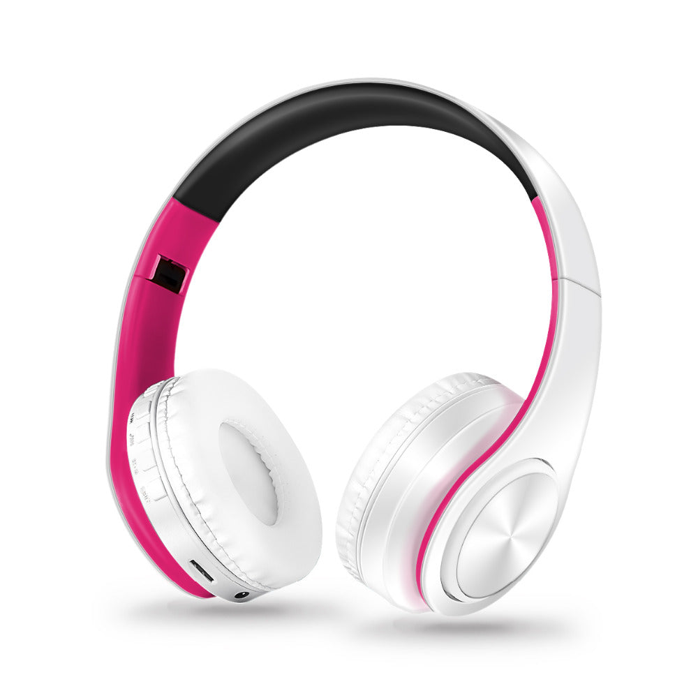 Wireless Bluetooth Foldable Stereo Headphones with Mic
