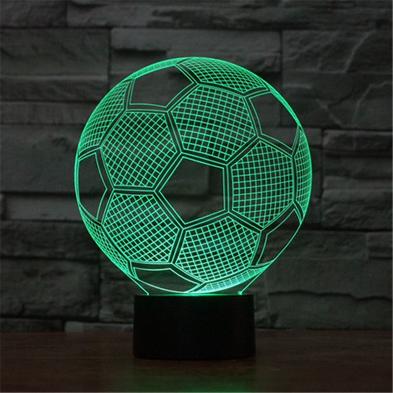 3D Football Acrylic Visual Light LED Lamp