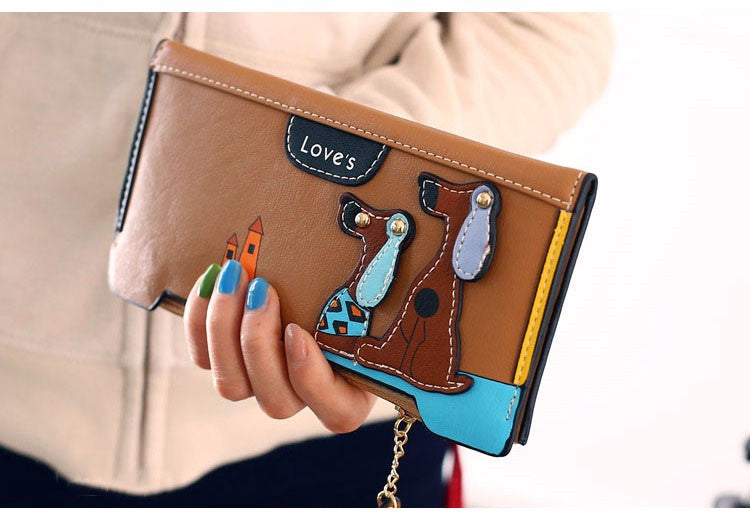 Women's Cute Puppy Wallet Clutch Card Holder
