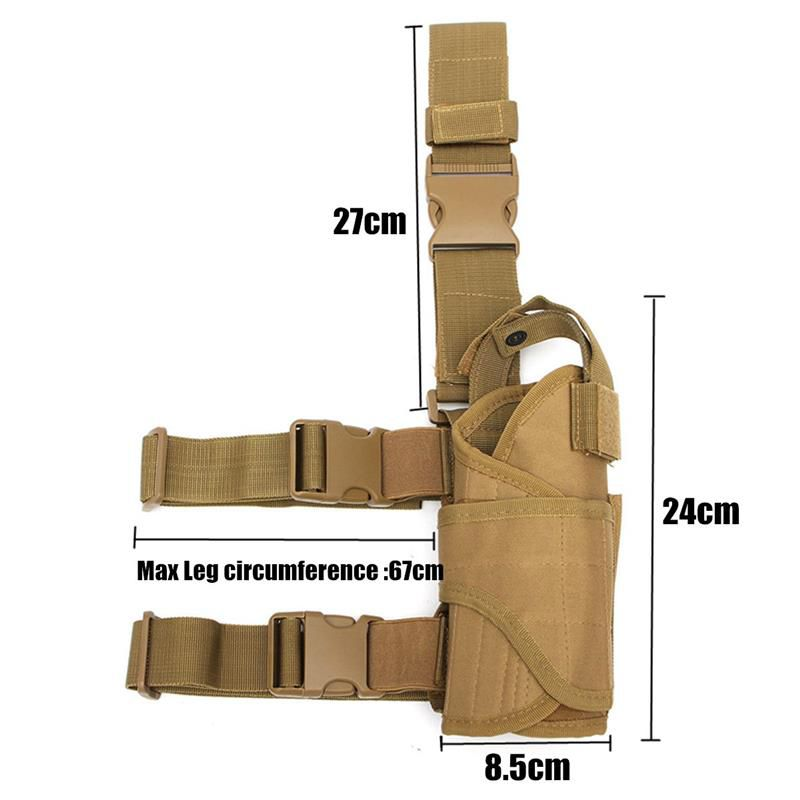 Outdoor Hunting Gun Accessories Multi-Function Tactical Puttee Thigh Leg Gun Holster Pouch Wrap-around Bag