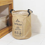 3 Types Foldable Jute&PE  Storage Bucket Washing Clothes Durable Laundry Storage Basket Bag 2 Sizes