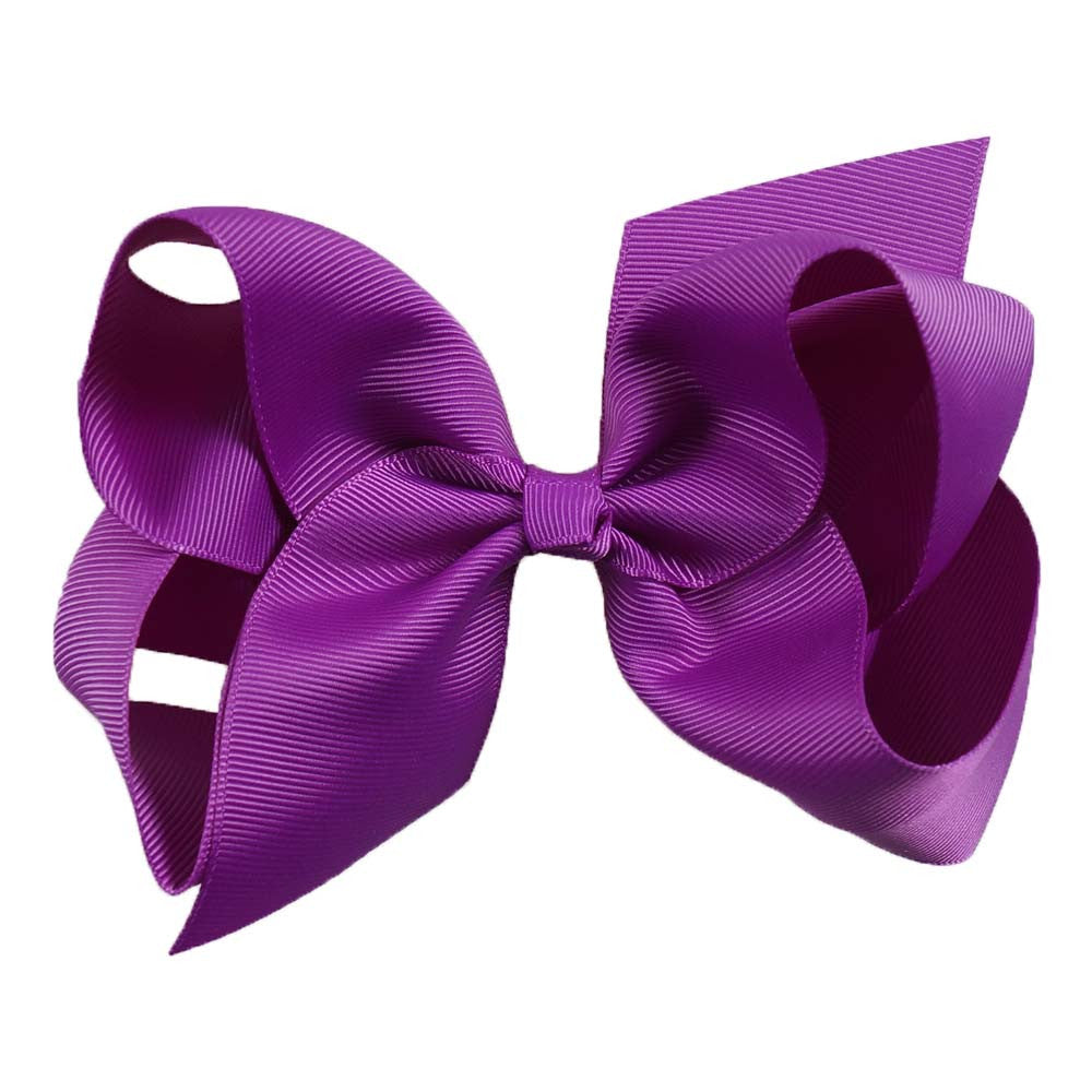 "30 Pcs/lot 6"" Plain Ribbon Knotted Hair Bow With Clip"
