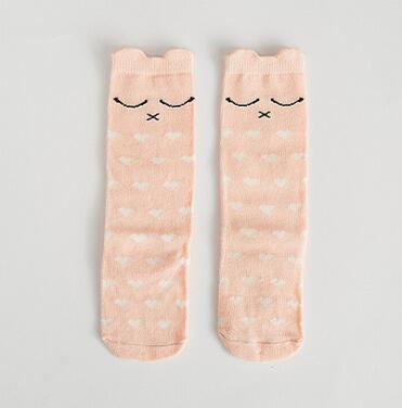 Children | Fashion | Animal | Cotton | White | Warm | Year | Baby | Sock | Girl | Gray | Cat | New