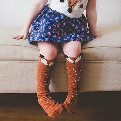 Children | Fashion | Animal | Cotton | White | Warm | Year | Baby | Sock | Gray | Girl | Cat | New